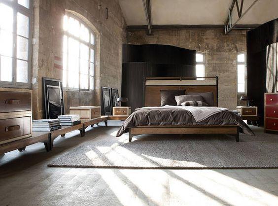 brick walls  high ceilings  loft style studio apt or