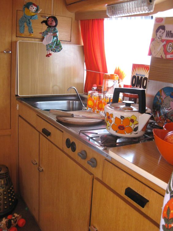 Perfectly Styled Interior Of 1970s Eriba Caravan My Photo Source