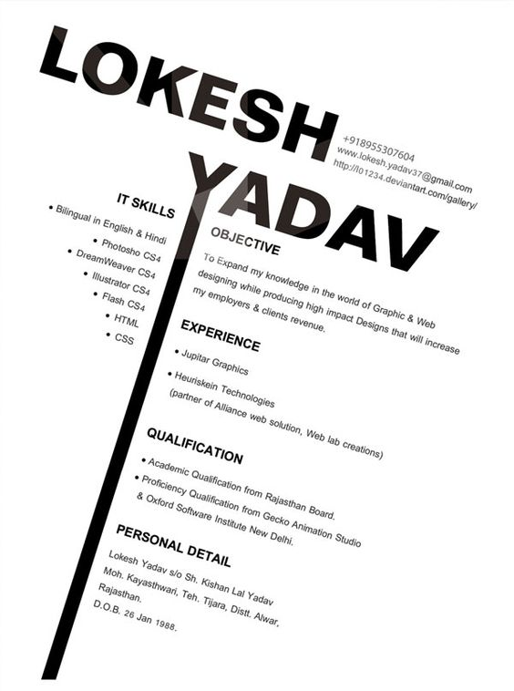 Resume, Resume ideas and Graphic design resume on Pinterest