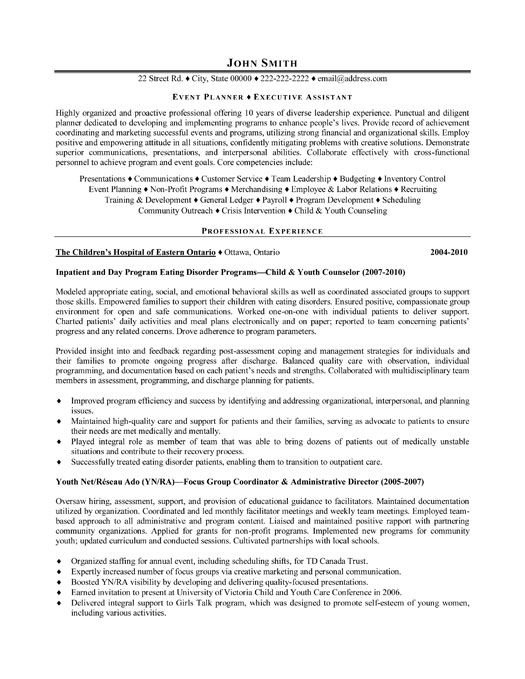 Click Here To Download This Event Planner Resume Template