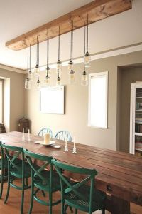Diy dining table, Light fixtures and Dining tables on