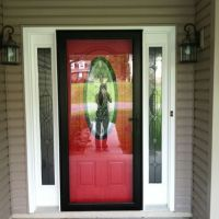 Storm doors, Red front doors and Front doors on Pinterest