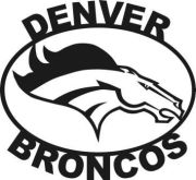 denver broncos logo metal art