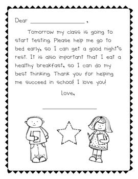 Parent notes, Printables and Test prep on Pinterest