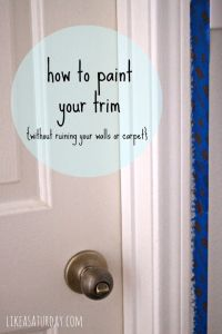Baseboards, How to paint and Carpets on Pinterest