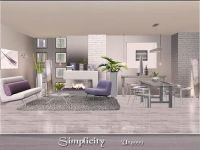 Simplicity modern living and dining room set by ung999 ...
