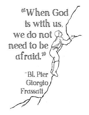Bl. Pier Giorgio Frassati Free Coloring Page