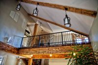 Half vaulted ceiling with beams | Dream House | Pinterest ...
