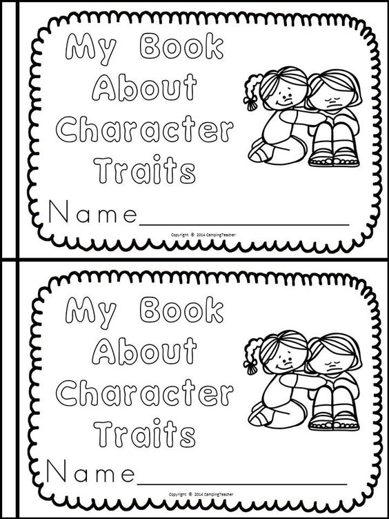 Book posters, Character trait and Activities on Pinterest