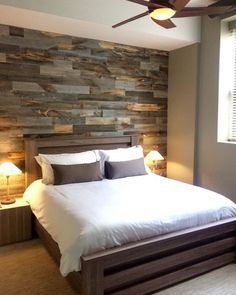 Faux Pallet Wall It's made from thin pieces of actual wood, and hovers around $10-14 per square foot. Even better, it's made in America, environmentally friendly, and VOC-free, too. You just trim, peel and stick it up on your wall.: