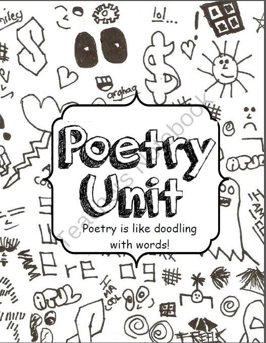 Poetry is like Doodling with Words Complete Poetry Packet