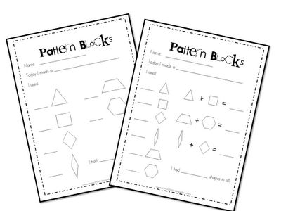 Pattern blocks, Patterns and Kindergarten on Pinterest