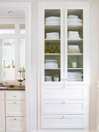 Creative Bathroom Storage Ideas | Linen closets, Cabinets ...