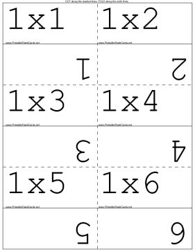 Use this set of flash cards to learn the multiplication