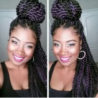 naturals that grow their hair with extension braids