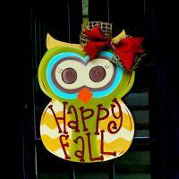 Owl door decorations, Owl door and Fall owl on Pinterest