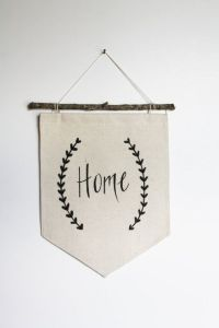 Small Canvas Banner- Home - Wall Flag - Fabric Banner ...