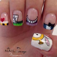 Alice in wonderland gel nail art | Nail Art | Pinterest ...