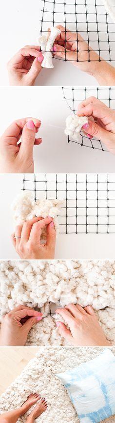 diy faire un tapis tout doux si cr pue mais pas que. Black Bedroom Furniture Sets. Home Design Ideas