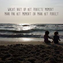 Quotes - Wacht niet op het prefecte moment maar pak het moment en maak het perfect