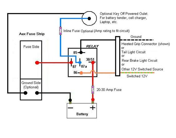 30 Amp Relay Wiring Diagram : Jd relay wiring diagram images