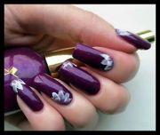 royal purple - white nail design