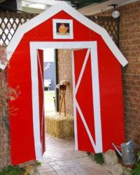 farm yard country barn twin boy birthday party farm barn
