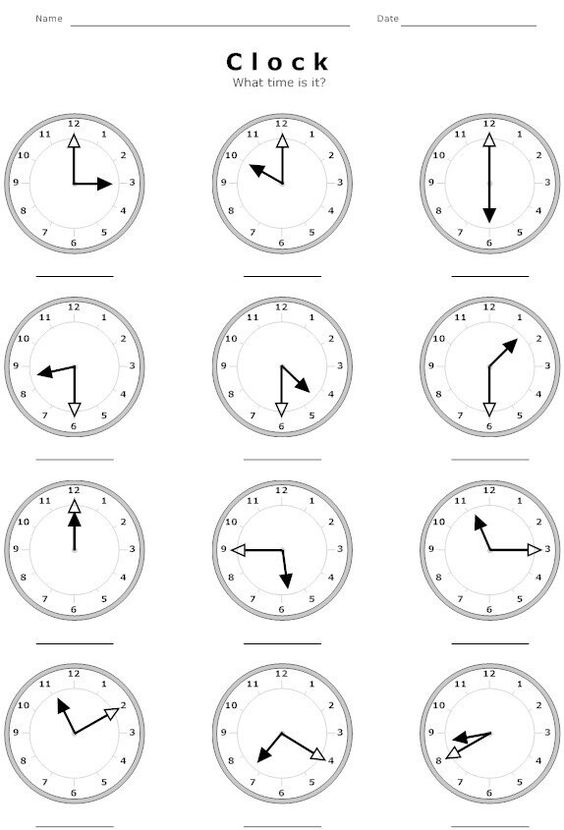 Telling time and Worksheets on Pinterest