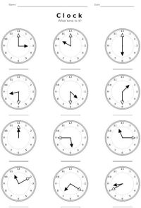 All Worksheets  Telling Time In Spanish Worksheets