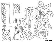 'Hope' Coloring for adults #AdultCP #FaithJournal #
