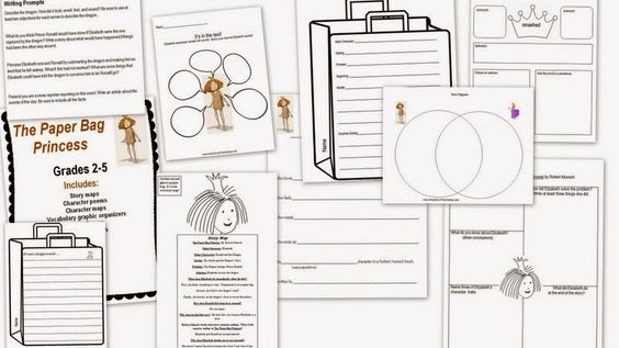 Paper bags, Princess stories and Story maps on Pinterest