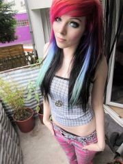 set of 5 - ombre colored hair chalk