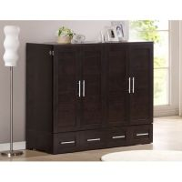 Murphy beds, Queen size and Cabinets on Pinterest