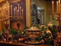 Decorating for Christmas, Old World style | French, Dining ...