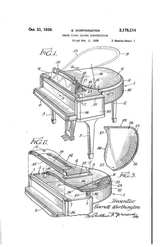 Grand pianos, Piano and Construction on Pinterest