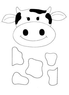 Halloween templates, Face template and Cow face on Pinterest