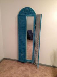 Full length mirror made from repurposed bi-fold closet ...