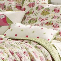 Pink & Green Owl Bedding Set | Addison big girl room ...