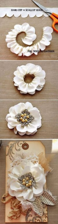 Scalloped edge, Shabby chic decor and DIY ideas on Pinterest