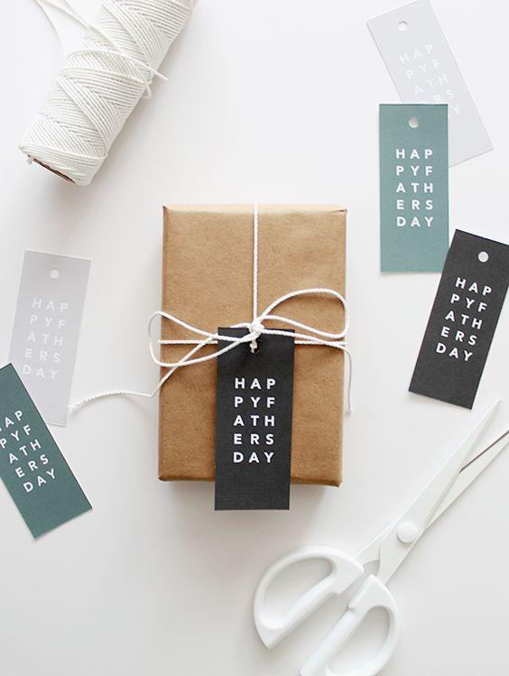 DIY vaderdag gift tag / cadeau label