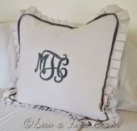 Monogrammed Pillow Shams | Pillow Shams and Pillows