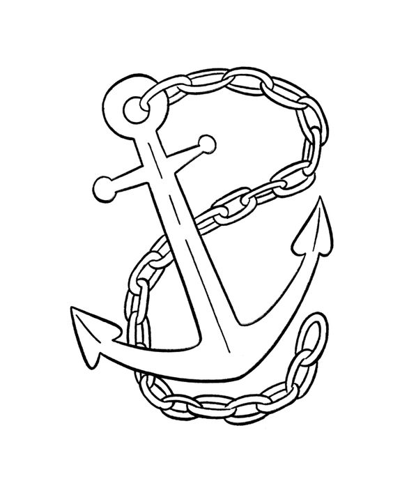 Coloring, Pirates and Anchor tattoos on Pinterest