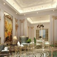 Classic French Interior Design With False Ceiling And ...