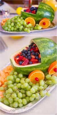 Baby Shower Fruit Tray Ideas | Creative, Baby shower fruit ...