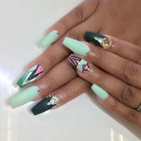 25 Fun Ways to Wear Ballerina Nails | Coffin nails ...