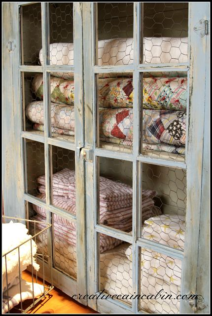 Quilt Cabinets and Glass doors on Pinterest