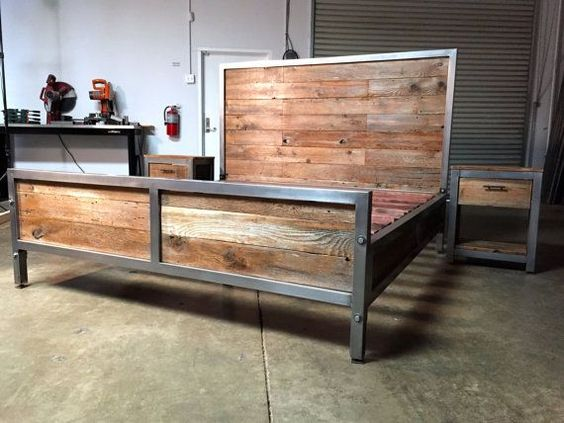 Industrial Bachelor Pad Bedroom And Industrial Bed On