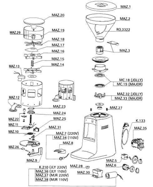 Have you got the latest La Marzocco parts guide and