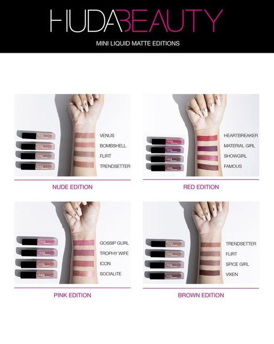 The Huda Beauty Liquid Matte Minis is a must have!