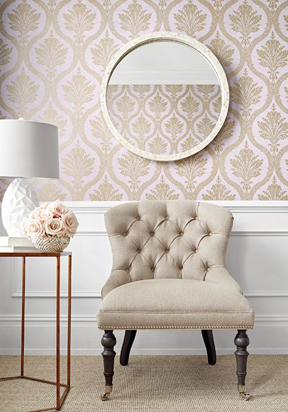 Thibaut Designs New Damask Wallpaper Collection Linda